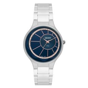 8b0adc7ffdc Relogio Feminino Prata Com Fundo Azul - Relógios De Pulso no Mercado ...