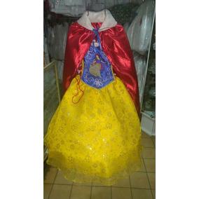 Vestido De Blancanieves Para Niña De La Talla 1 A La 8