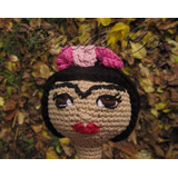 Amigurumi Frida Kahlo. Muñeca Artesanal Tejida A Crochet