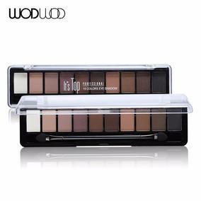 Paleta De Sombra 10 Cores Pigmento Da Sombra De Olho Fosco