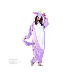 Pijama Kigurumi Unicornio Azul Rosa Morado Calidad