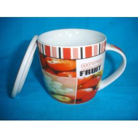 Divertido Tazon Frute Porcelaine Coleccion Italy S/uso(1184f