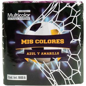 Torta Azul Y Amarillo Fuegos Artificiales Pirotecnia Cadenac
