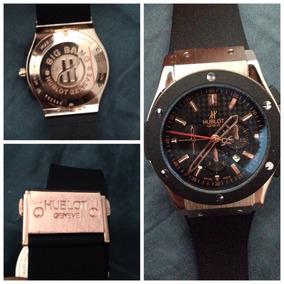 Reloj Hublot Big Bang Dorado Negro Cronografo Correa Caucho