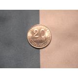 Argentina Niquel 20 Centavos 1950 Año Del Libertador