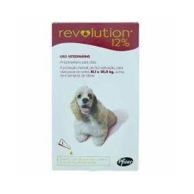 Anti Pulgas Revolution Pfizer 12% 1ml Para Cães 10,1kg A 20k
