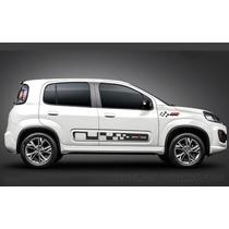 Faixas Laterais Nova Fiat Uno Kit Adesivos Vivace Sporting