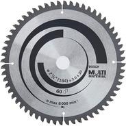 Disco De Sierra Circular Bosch Multimaterial 71/4p(184mm)60d