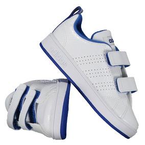 Tênis adidas Vs Advantage Clean Infantil Branco E Azul