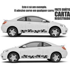 Par De Adesivos Faixas Laterais Friso Para Carro 160cm D085