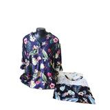 Blusa Plus Size Feminina Bata Estampa Floral Verão