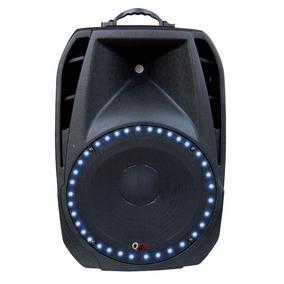 Corneta Amplificada Qfx Bluetooth 2500w Max Usb-sd Led Azul