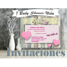 Kit Baby Shower Niña Personalizado/ Videoinvitacion