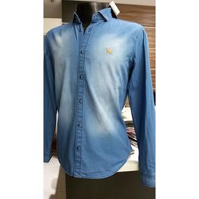 Camisa Jeans Acostamento G / Gg Ml Masc. -frete Gratis