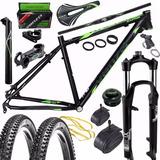 Kit Quadro Bicicleta 29 Venzo Raptor Suspenção Xcm 30 Verde