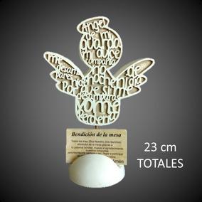 15 Angel Con Oración Y Bendición De Mesa, Comunión, Bautizo.