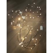 Esfera Alambre Rústico 20 Luces Led A Pilas