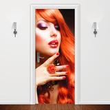 Salão Estética Beleza - Adesivo Decorativo Para Portas