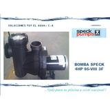 Bomba Para Piscina Speck 4hp Mod: 95-vlll 3f