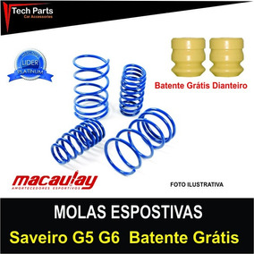 Molas Esportivas Macaulay Saveiro Vw G5 G6 Batente Grátis