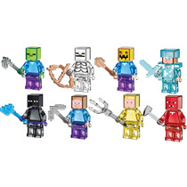 Set Completo Frozen Cristal Minecraft Compatible Con Lego