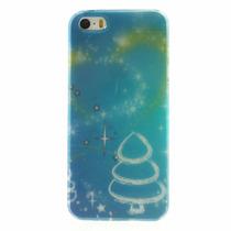 Funda Navidad Arbolito Y Polvo Estelar Iphone 5 5s Se Acro