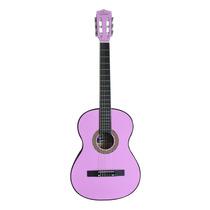 Guitarras Clásica + Forro Y Jgo Cuerdas Rosada, Negra, Roja