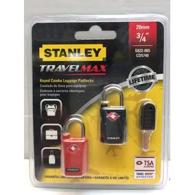 Juego Candado De Llave Para Equipaje 20mm Stanley Travel Max