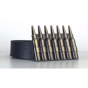 Cinturon Completo Con Hebilla Balas Gold