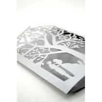 Sobre Invitacion Corte Laser Boda, Xv Art302 Silver