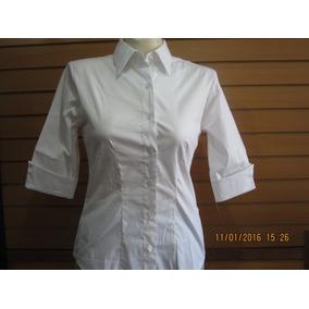 Camisa 3/4 Dama Blanca
