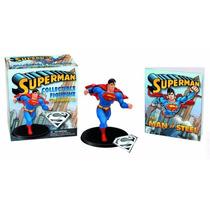 Mini Coleccionable Superman Figura Collar Dije Llavero Libro