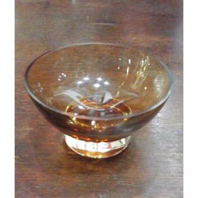 Adorno De Vitrina De Cristal Ocre 11 Cm. De Diam. X 6 Cm.alt