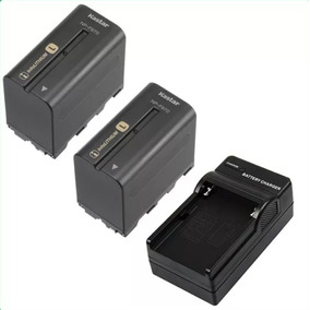 2 Baterias 1 Carga Np-f970 Para Camaras Sony Y Lamparas Led