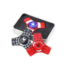 Fidget Hand Spinner Metal Homem De Aranha Capitão Triângulo
