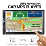 Radio Para Carro Gps Bluetooth Usb Sd Aux Mp5 Pantalla 7 Map