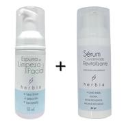 Kit Facial Orgânico E Vegano Herbia Limpeza + Sérum Facial