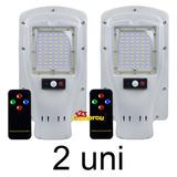 2 Refletor Luminária Pública Energia Solar 30w Poste Sensor