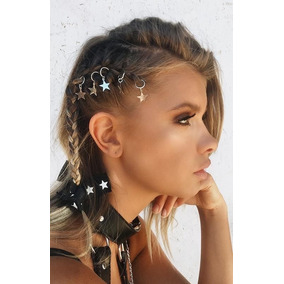 10 Aros Anillos Para Pelo C/dije Set Trenza Hair Rings T2019