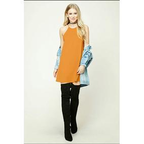 Vestido Importado Usa Forever 21 Textured Swing Dress