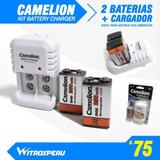 Baterias 9v Recargable + Cargador, Camelion, Multiuso,nuevos