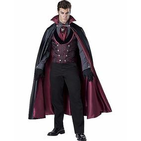 Disfraz Adulto Vampiro De Lujo Conde Dracula Halloween