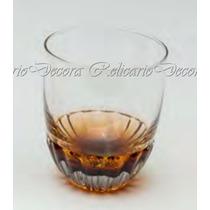 Jg 6 Copos Craquelados Para Whisky De 355ml Ambar Cristal