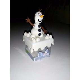 Lembrancinha Frozen Olaf Biscuit Caixa Acrílica