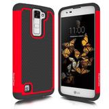 Lg Phoenix 2 Case Lg Escape 3 Case Lg K8 Case Zeopoc - Rojo