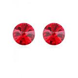 Aros Swarovski® Luna Rojo Gloss Crystal