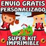 Kit Imprimible Gauchos (nena) Personalizado Gratis Candy Bar