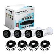 Kit De Seguridad Dahua Dvr 4ch Cctv + 4 Cámaras  2mp 1080p