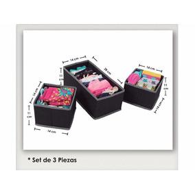 Cajas Organizadoras X 3 Baño Dormitorio Ropa Interior Medias