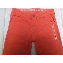 Jeans Americanino Talle 12/14 De Niño Skinny Naranja Nuevo
